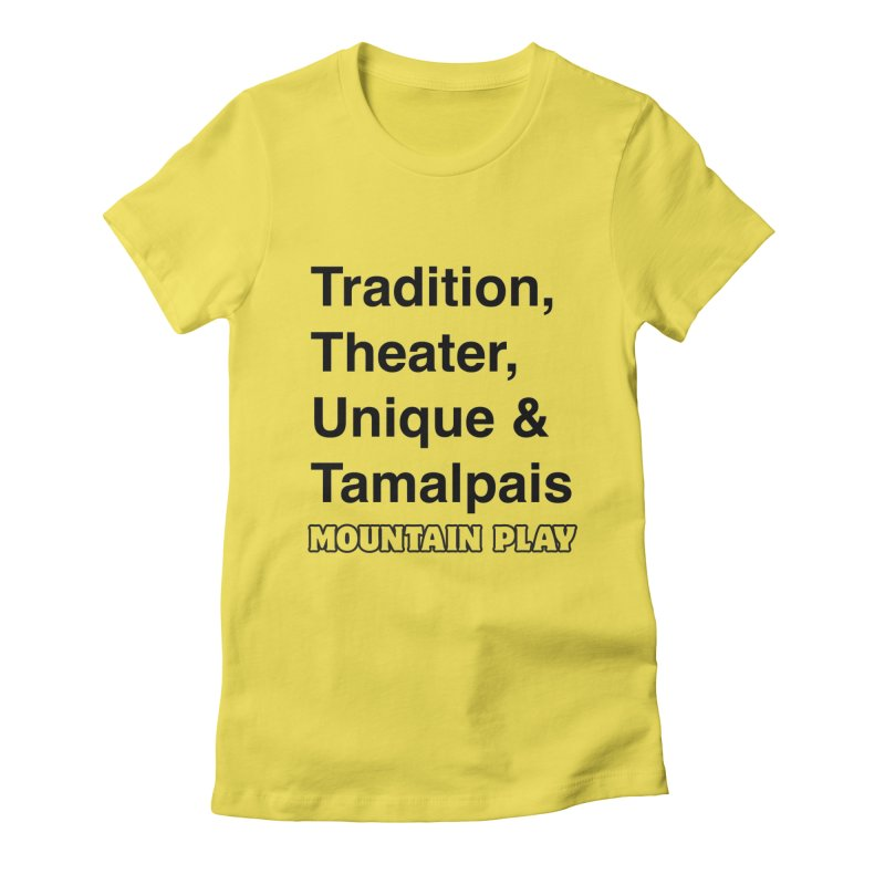 Typography Women's T-Shirt by Mountain Play Shop
