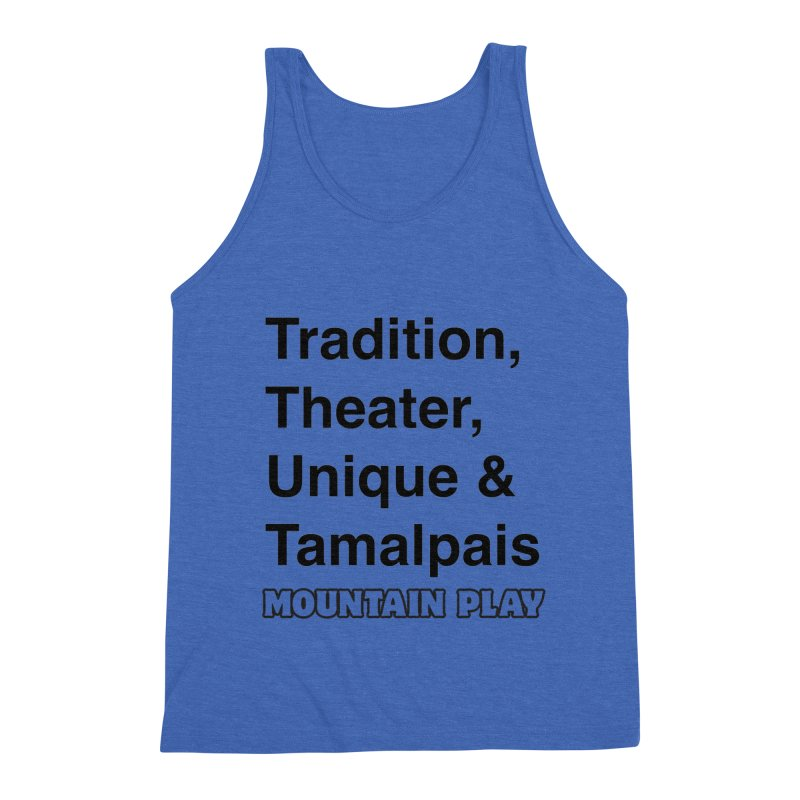 Typography Men's Tank by Mountain Play Shop