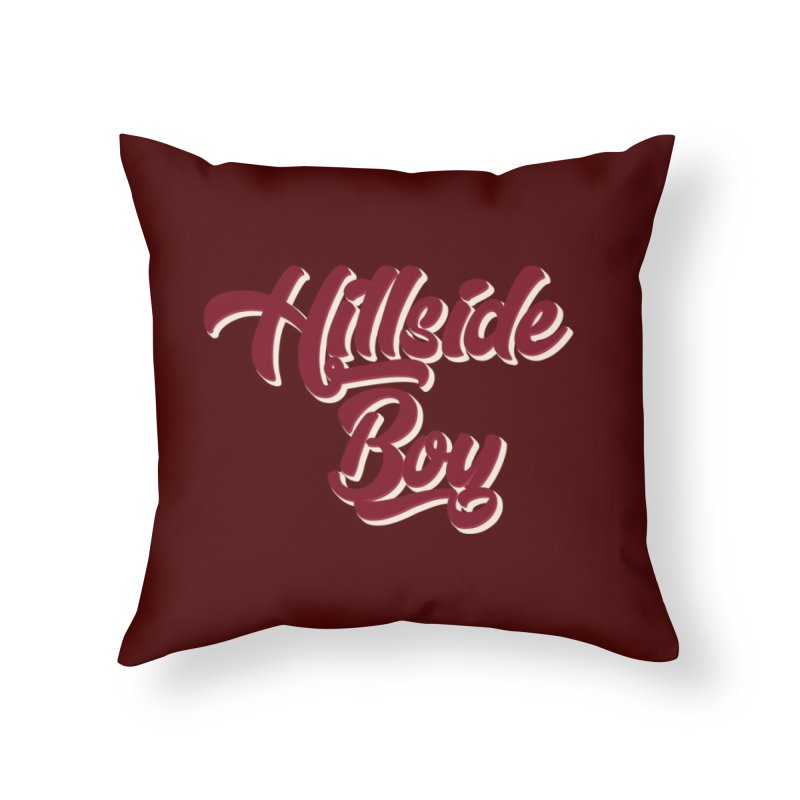Hillside Boy Home Throw Pillow by Mountain View Co