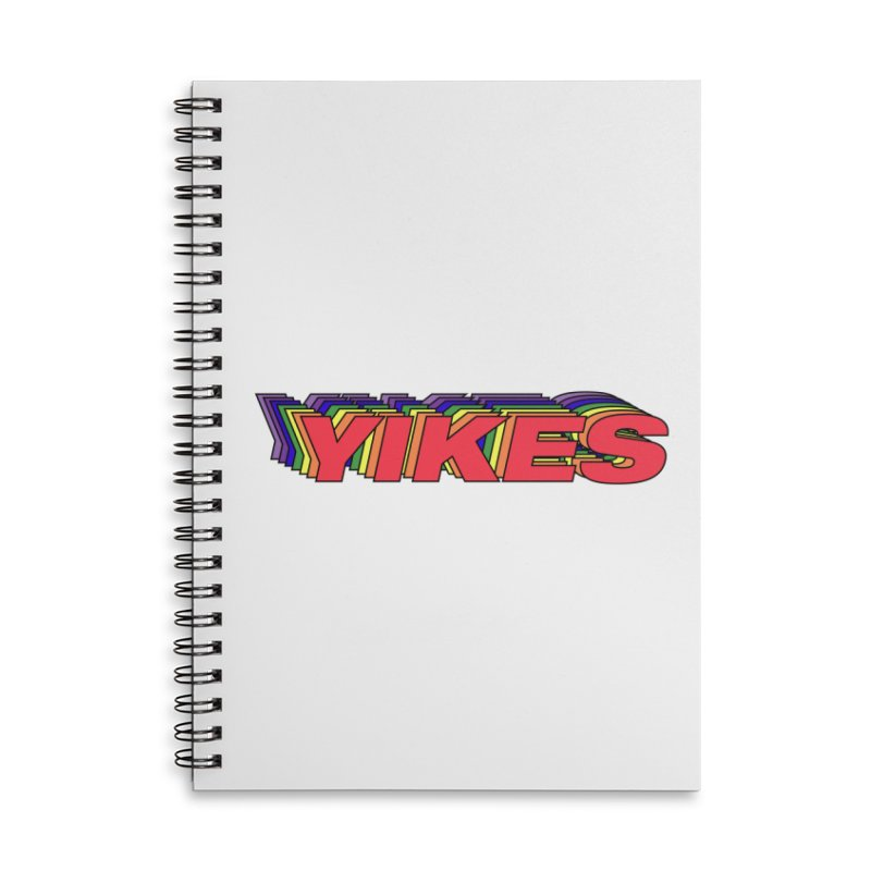 Yikes Accessories Lined Spiral Notebook by Mountain View Co