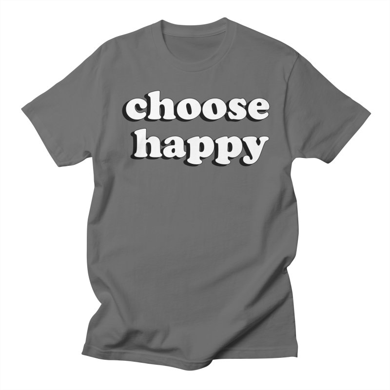 Choose Happy Men's French Terry Zip-Up Hoody by Mountain View Co