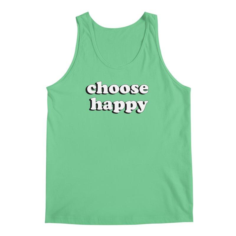 Choose Happy Men's Regular Tank by Mountain View Co