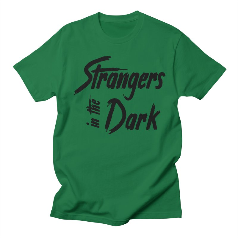 Strangers in the Dark (Black) Men's French Terry Zip-Up Hoody by Mountain View Co