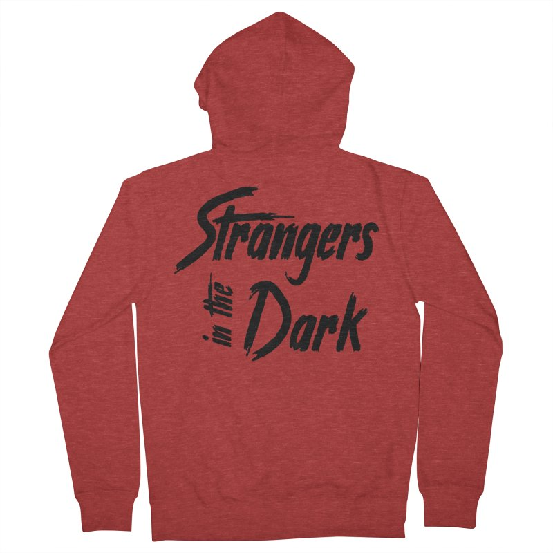 Strangers in the Dark (Black) Women's French Terry Zip-Up Hoody by Mountain View Co