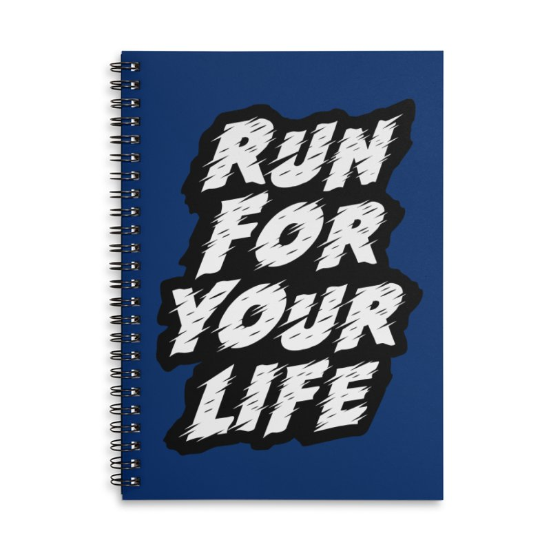 Run For Your Life Accessories Lined Spiral Notebook by Mountain View Co
