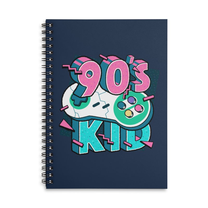 90's Kid Accessories Lined Spiral Notebook by Mountain View Co