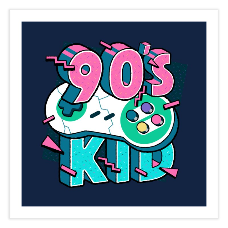 90's Kid Home Fine Art Print by Mountain View Co