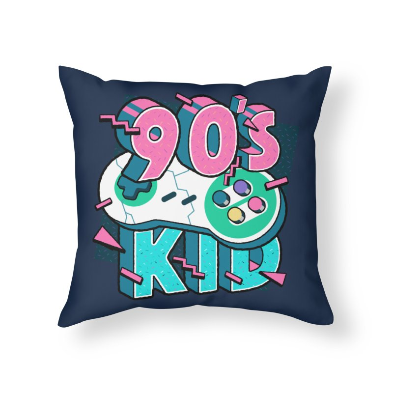 90's Kid Home Throw Pillow by Mountain View Co