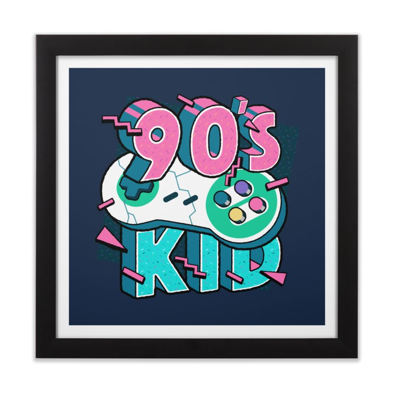90's Kid Home Framed Fine Art Print by Mountain View Co
