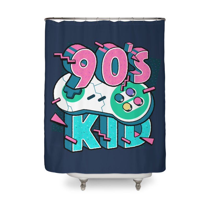 90's Kid Home Shower Curtain by Mountain View Co