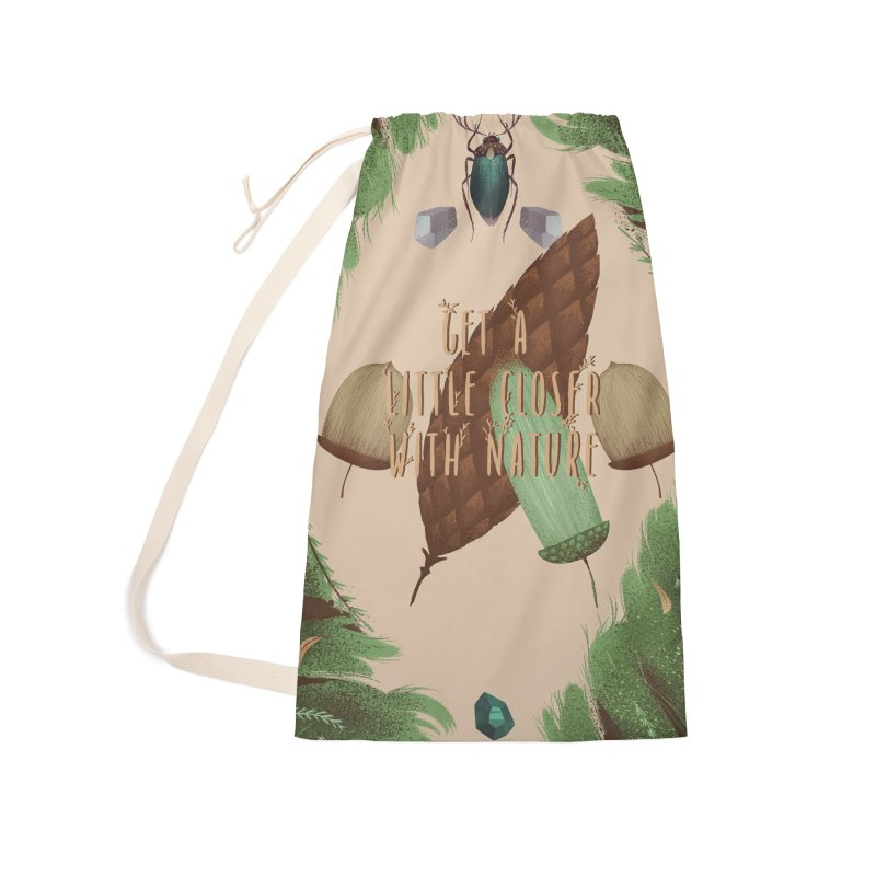 Get A Little Closer With Nature Accessories Laundry Bag Bag by Mountain View Co