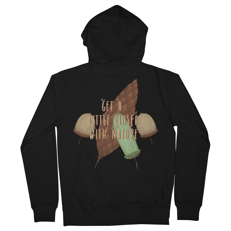 Get A Little Closer With Nature Women's French Terry Zip-Up Hoody by Mountain View Co