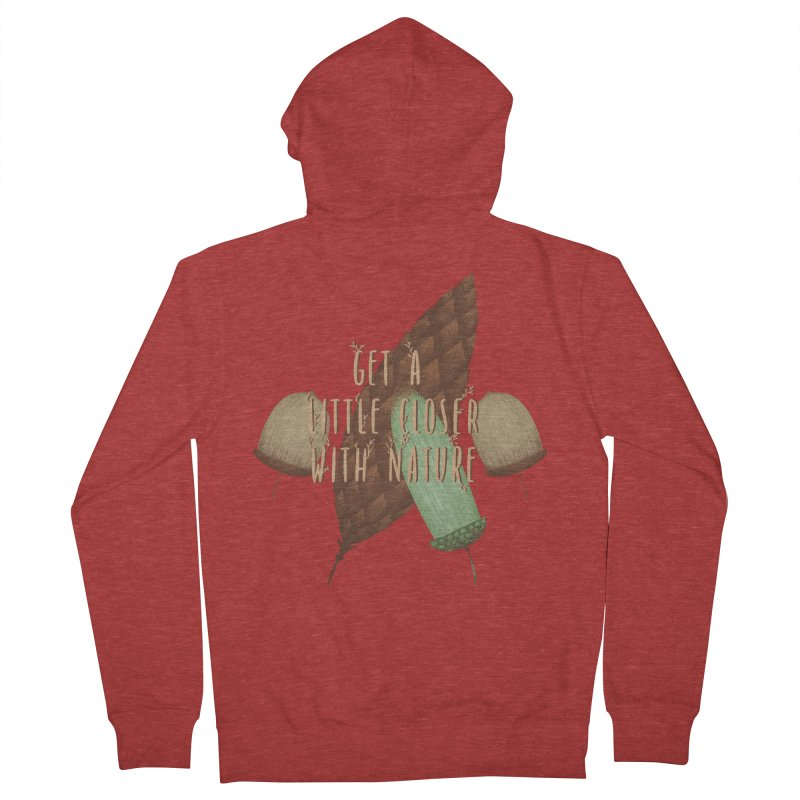 Get A Little Closer With Nature Men's French Terry Zip-Up Hoody by Mountain View Co