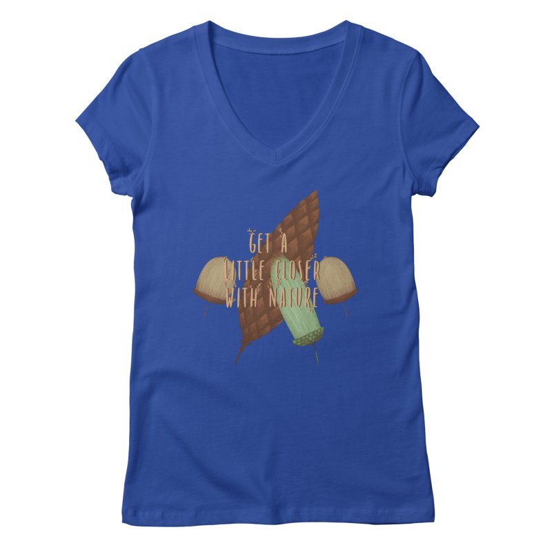 Get A Little Closer With Nature Women's Regular V-Neck by Mountain View Co