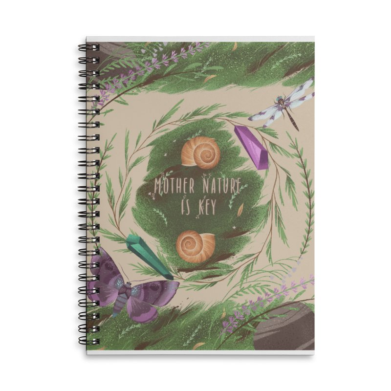 Mother Nature Is Key Accessories Lined Spiral Notebook by Mountain View Co