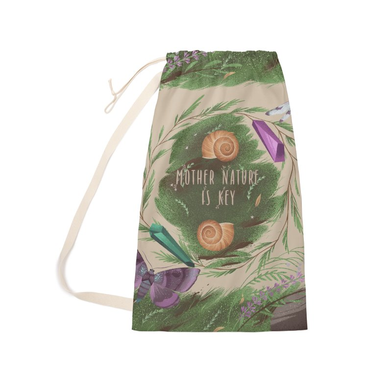 Mother Nature Is Key Accessories Laundry Bag Bag by Mountain View Co