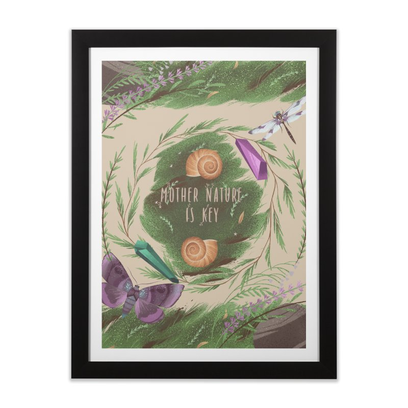 Mother Nature Is Key Home Framed Fine Art Print by Mountain View Co