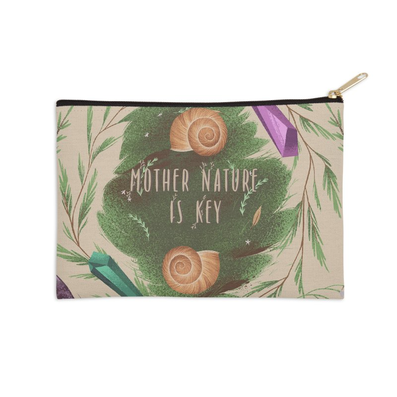 Mother Nature Is Key Accessories Zip Pouch by Mountain View Co