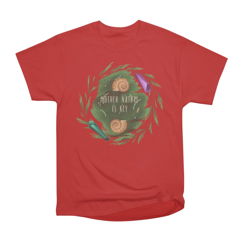Mother Nature Is Key Men's Heavyweight T-Shirt by Mountain View Co