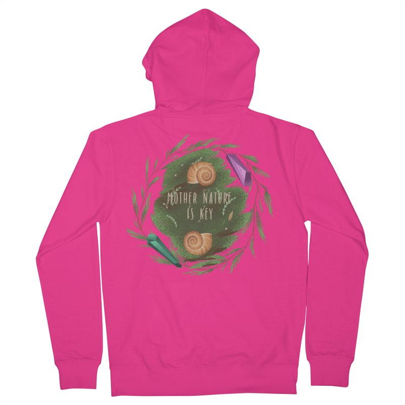 Mother Nature Is Key Men's French Terry Zip-Up Hoody by Mountain View Co