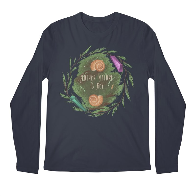 Mother Nature Is Key Men's Regular Longsleeve T-Shirt by Mountain View Co