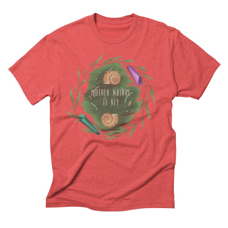 Mother Nature Is Key Men's Triblend T-Shirt by Mountain View Co