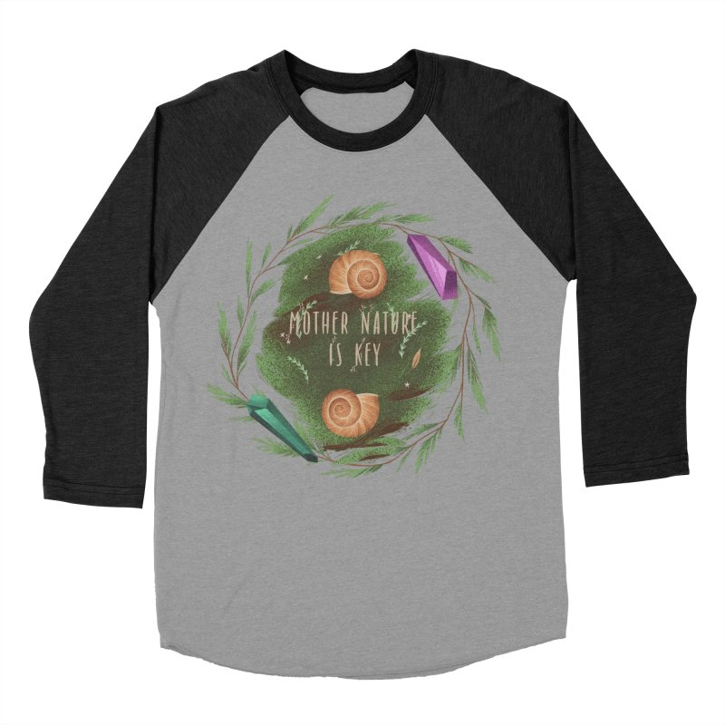 Mother Nature Is Key Women's Baseball Triblend Longsleeve T-Shirt by Mountain View Co
