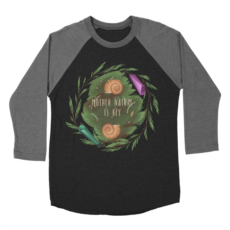 Mother Nature Is Key Men's Baseball Triblend Longsleeve T-Shirt by Mountain View Co