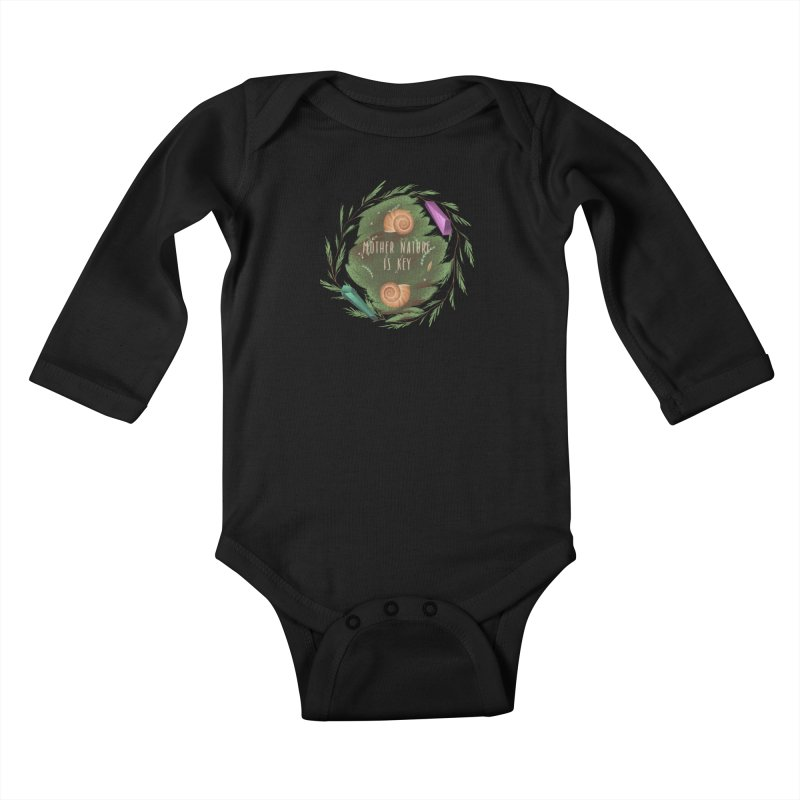 Mother Nature Is Key Kids Baby Longsleeve Bodysuit by Mountain View Co