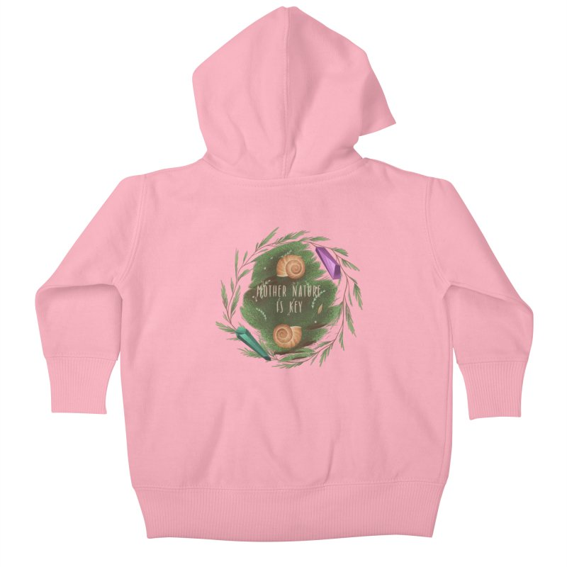 Mother Nature Is Key Kids Baby Zip-Up Hoody by Mountain View Co