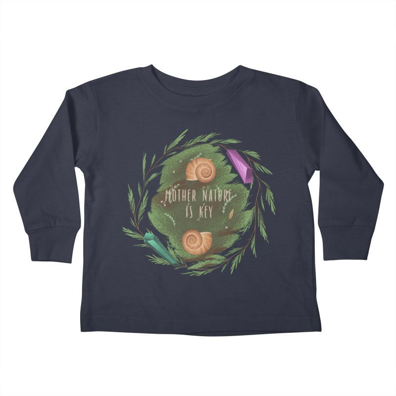 Mother Nature Is Key Kids Toddler Longsleeve T-Shirt by Mountain View Co