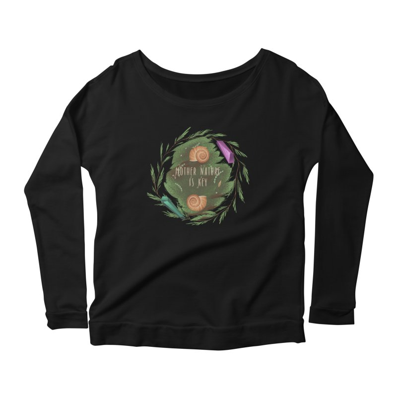 Mother Nature Is Key Women's Scoop Neck Longsleeve T-Shirt by Mountain View Co