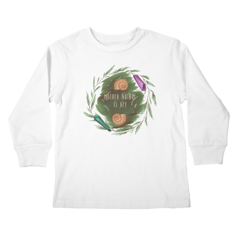 Mother Nature Is Key Kids Longsleeve T-Shirt by Mountain View Co