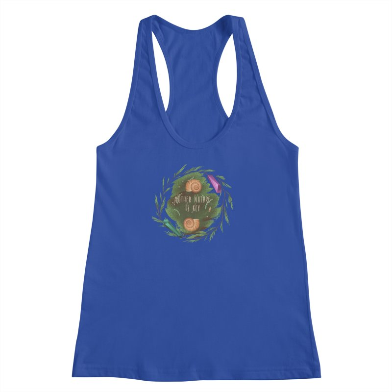 Mother Nature Is Key Women's Racerback Tank by Mountain View Co