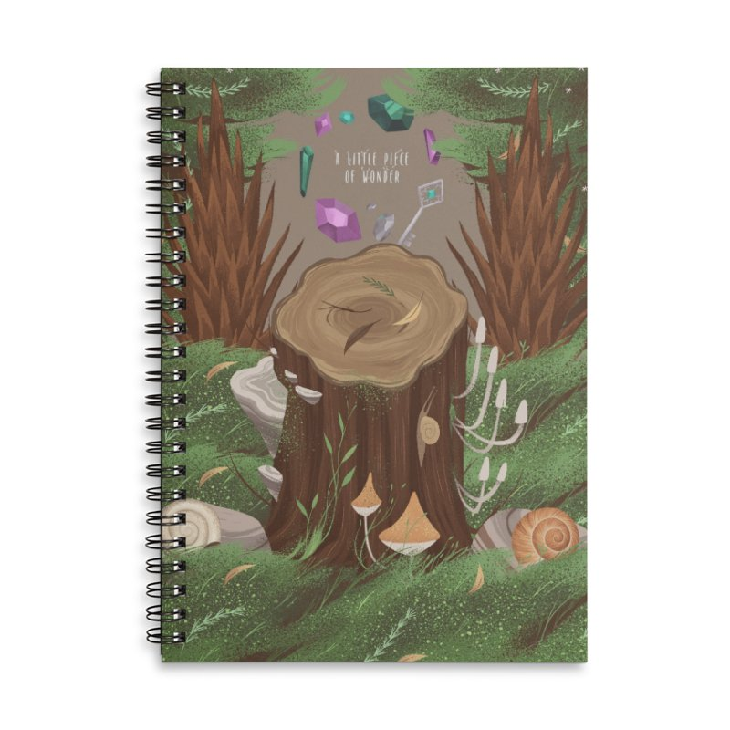 A Little Piece Of Wonder Accessories Lined Spiral Notebook by Mountain View Co