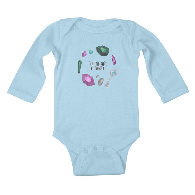 A Little Piece Of Wonder Kids Baby Longsleeve Bodysuit by Mountain View Co