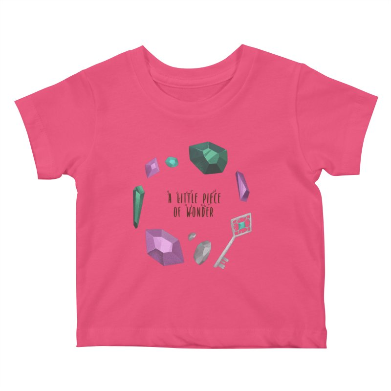 A Little Piece Of Wonder Kids Baby T-Shirt by Mountain View Co
