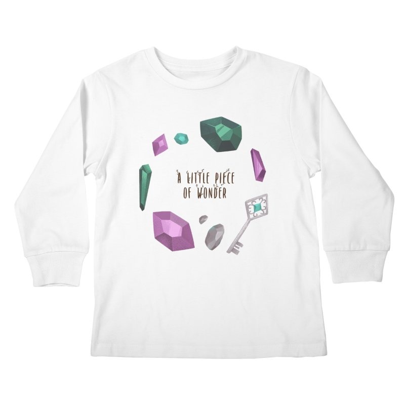 A Little Piece Of Wonder Kids Longsleeve T-Shirt by Mountain View Co