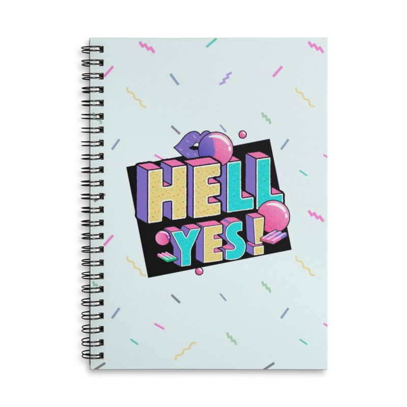 Hell Yes Accessories Lined Spiral Notebook by Mountain View Co