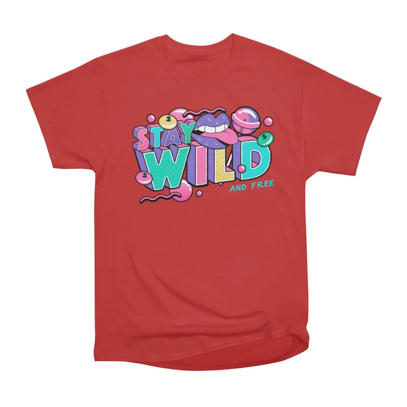 Stay Wild Men's Heavyweight T-Shirt by Mountain View Co