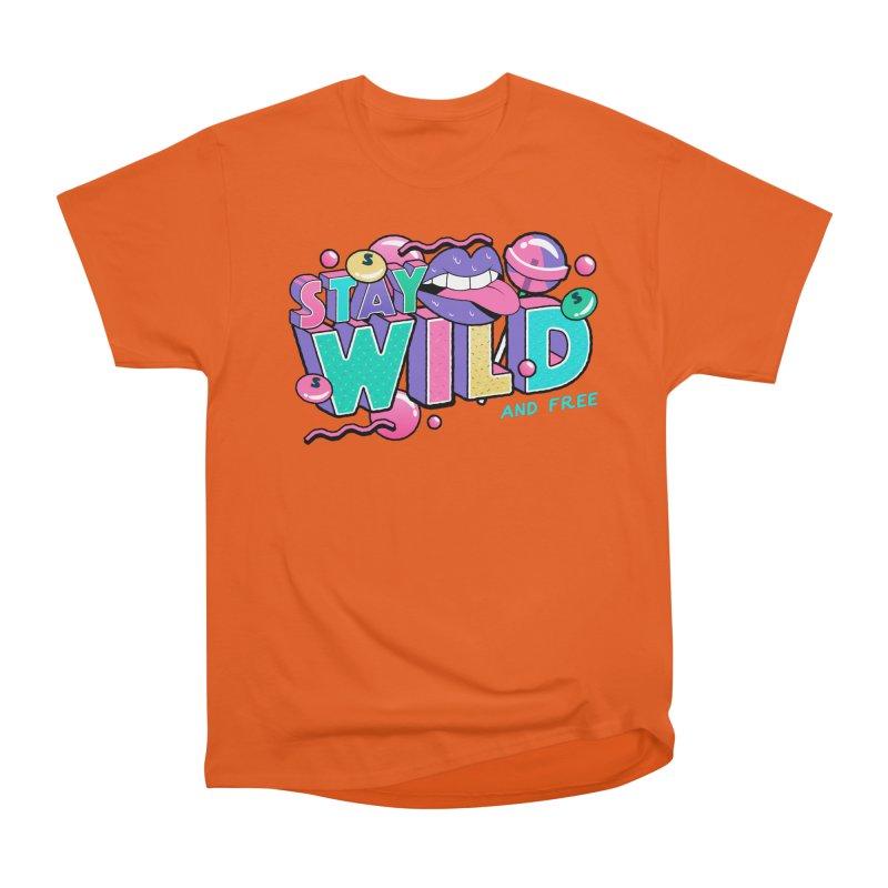 Stay Wild Women's Heavyweight Unisex T-Shirt by Mountain View Co