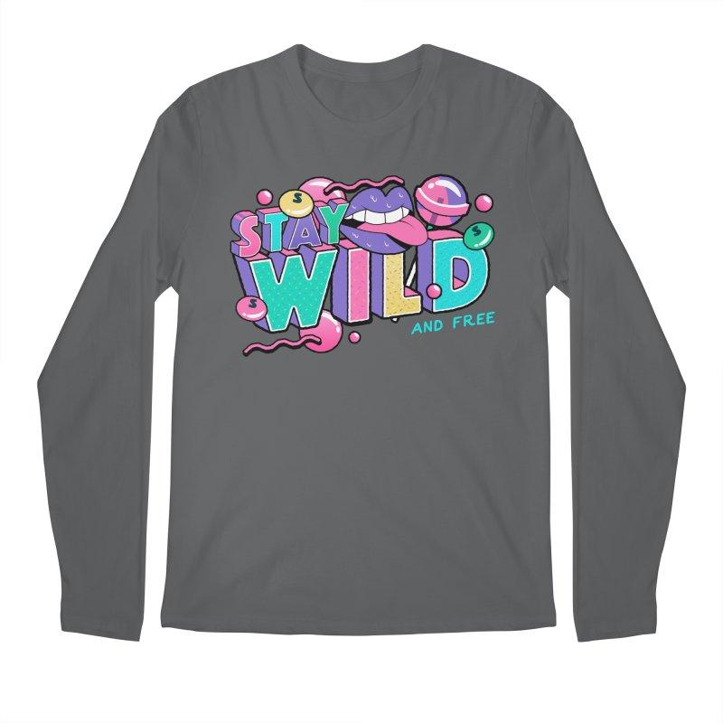 Stay Wild Men's Regular Longsleeve T-Shirt by Mountain View Co