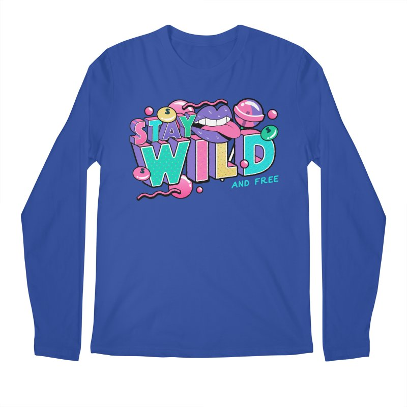 Stay Wild Men's Regular Longsleeve T-Shirt by Mountain View Co