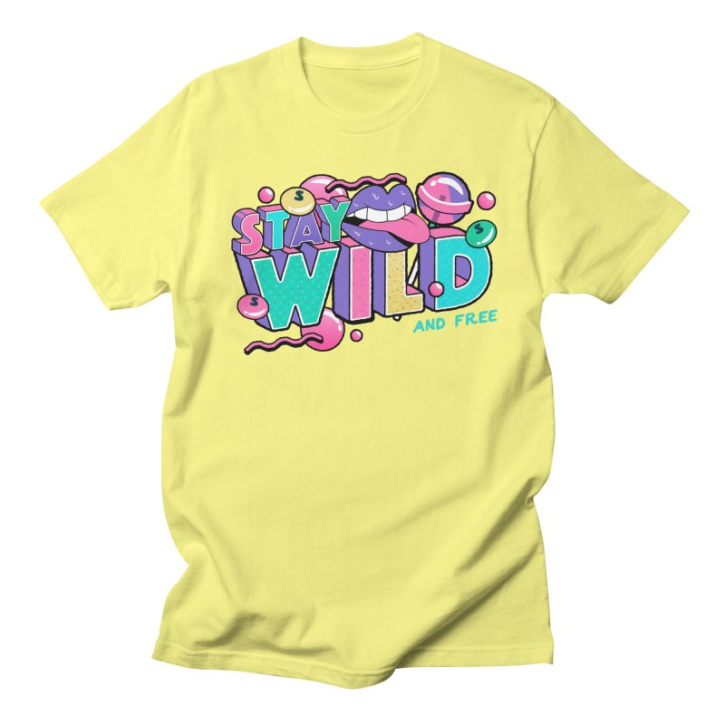 Stay Wild Women's Regular Unisex T-Shirt by Mountain View Co