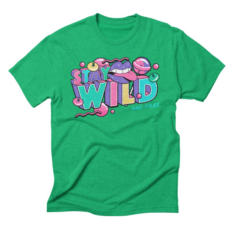 Stay Wild Men's Triblend T-Shirt by Mountain View Co