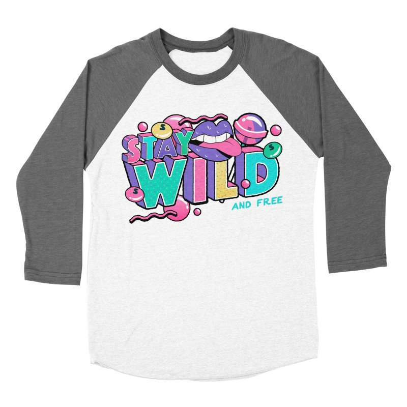 Stay Wild Women's Baseball Triblend Longsleeve T-Shirt by Mountain View Co