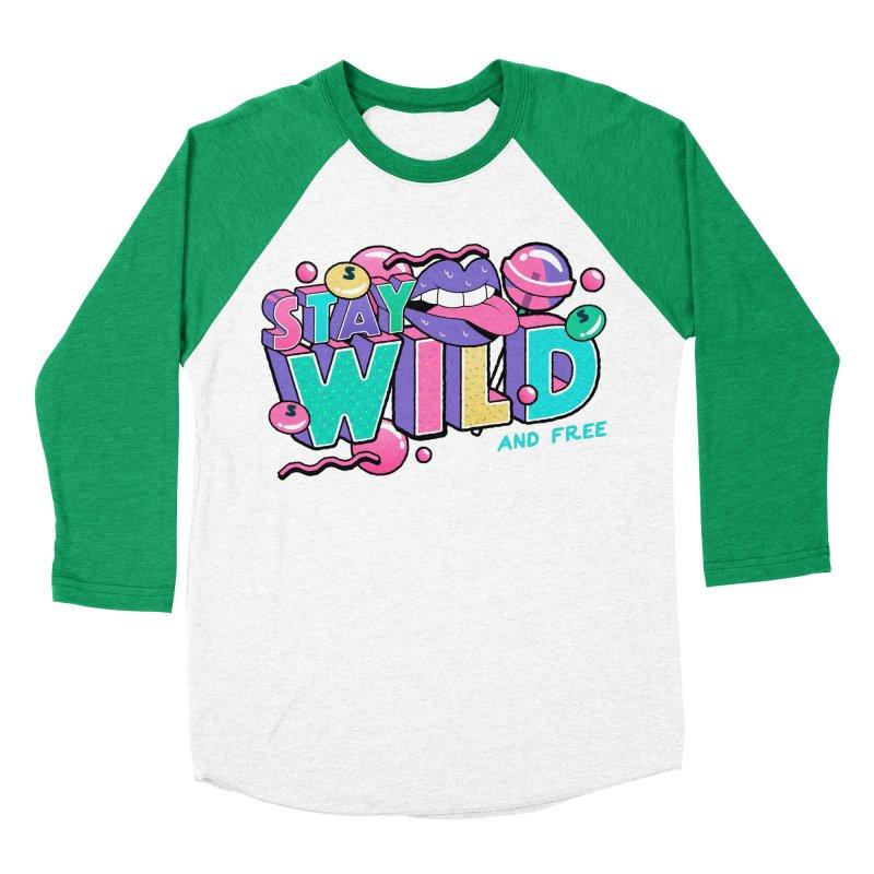 Stay Wild Women's Baseball Triblend Longsleeve T-Shirt by Mountain View Co