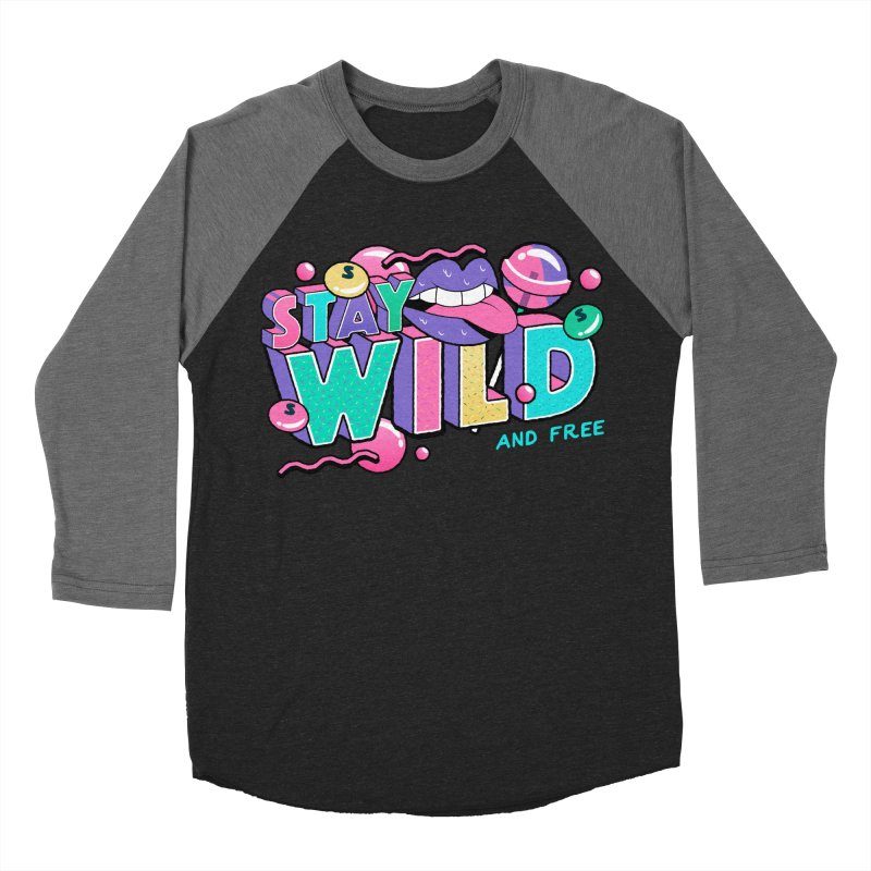Stay Wild Men's Baseball Triblend Longsleeve T-Shirt by Mountain View Co