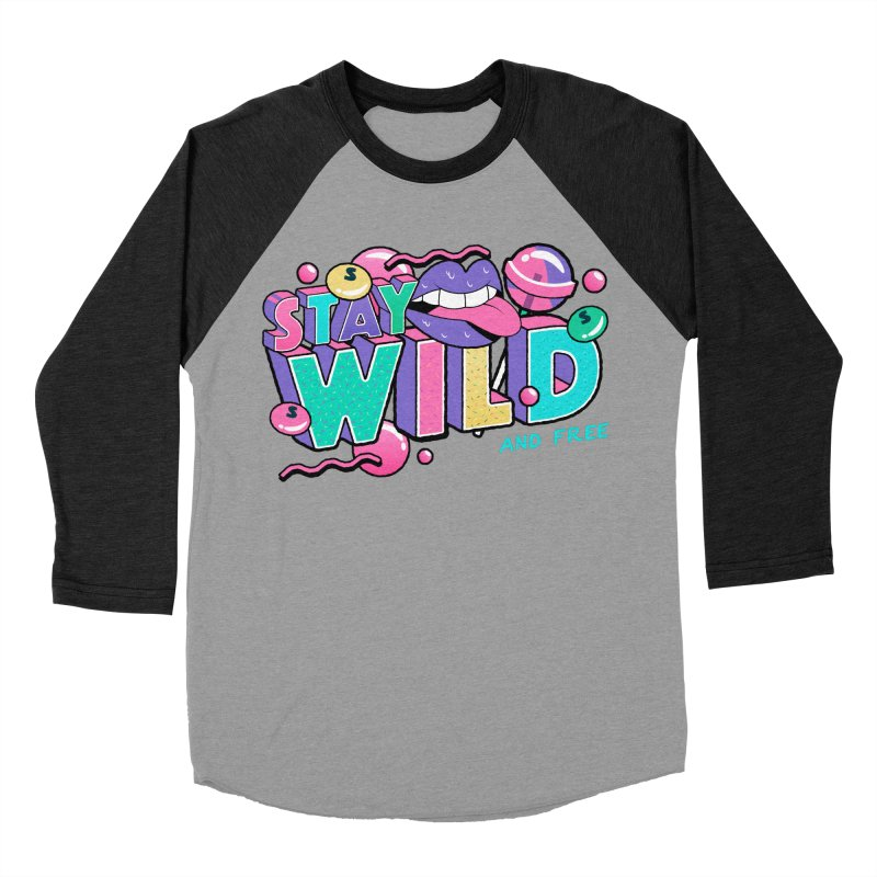 Stay Wild Men's Baseball Triblend Longsleeve T-Shirt by Mountain View Co
