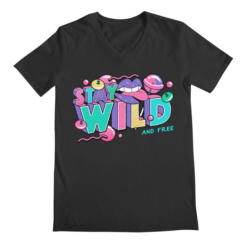 Stay Wild Men's Regular V-Neck by Mountain View Co